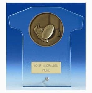"Elite Rugby Glass Trophy 125mm (5"")"