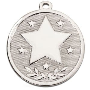 "Galaxy Star 45mm (1.8"") Medal Silver"