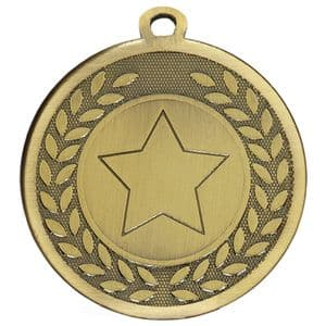 "Galaxy Wreath 45mm (1.8"") Medal (Antique Gold / Bronze)"