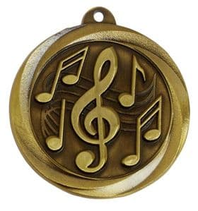 "Globe Music 50mm (2"") Medal"