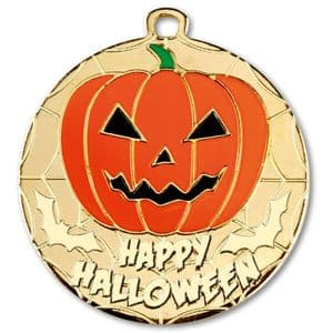 "Gold Happy Halloween Medal 50mm (2"")"