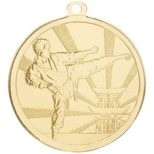 Gold Martial Arts Medal 70mm