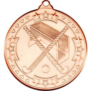 "Hockey Medal - Bronze 50mm (2"")"