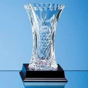 "Lead Crystal Panelled Flared Vase 150mm (5.9"")"