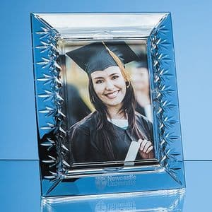"Lead Crystal Panelled Photo Frame Portrait for 7"" x 5"" Photo"