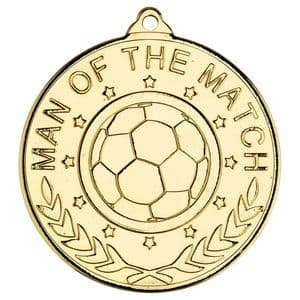 Man of the Match Gold 50mm Medal