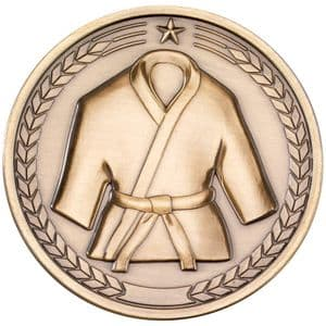 "Martial Arts 70mm (2.75"") Medallion Antique Gold"