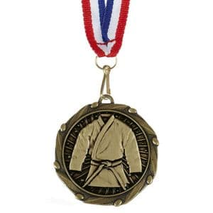 "Martial Arts Combo Medal 45mm (1.8"") with Ribbon"