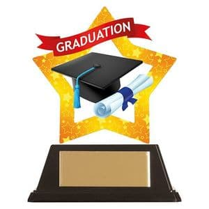 "Mini-Star Graduation Acrylic Plaque 100mm (3.9"")"