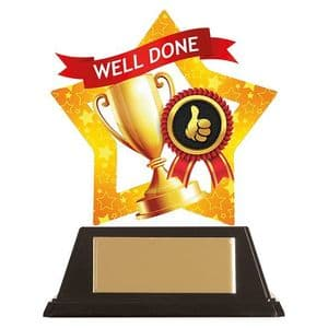 """Mini-Star Well Done Acrylic Plaque 100mm (3.9"""")"""