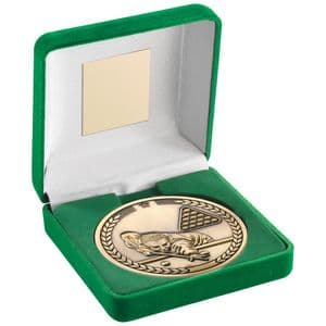 Pool/Snooker 70mm Gold Medallion in Green Medal Box