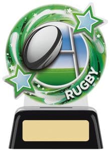 "Round Acrylic Rugby Award 115mm (4.75"")"