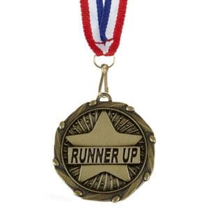 "Runner Up Combo Medal 45mm (1.8"") with ribbon"