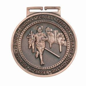"Running Bronze Olympia Medal 60mm (2.35"")"