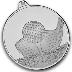 "Silver Frosted Glacier Golf Club Medal 50mm (2"")"