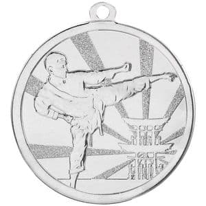 Silver Martial Arts Medal 70mm