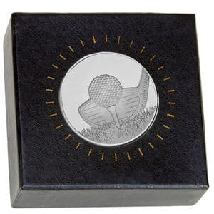 Silver Nordic Golf Medal 60mm dia in Box