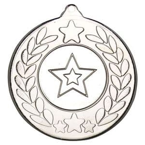 Stars And Wreath Medal Silver 50mm