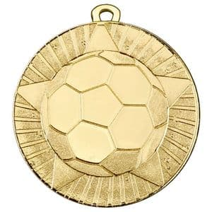 """State Football 50mm (2"""") Medal Gold"""