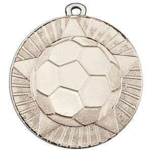 """State Football 50mm (2"""") Medal Silver"""