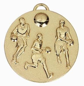 "Target Basketball Medal 50mm (2"") Gold"