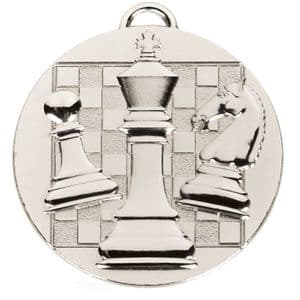 """Target Chess Medal Silver 50mm (2"""")"""