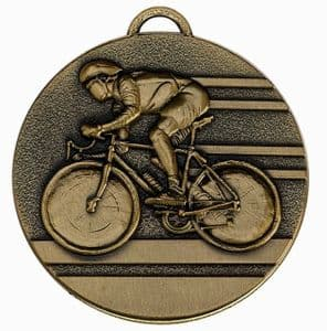 """Target Cycling Medal 50mm (2"""") Bronze"""
