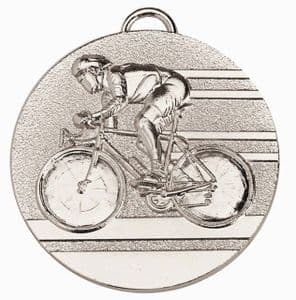 """Target Cycling Medal 50mm (2"""") Silver"""