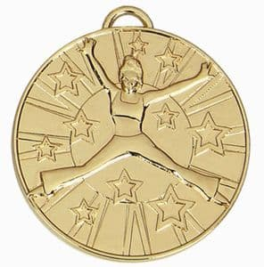 "Target Floor Dance Medal Gold 50mm (2"")"