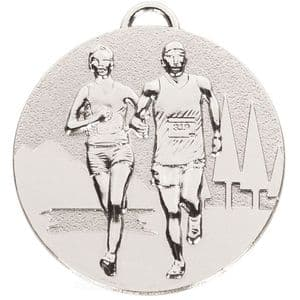Target Running Cross Country Medal Silver