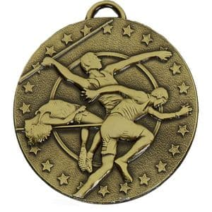 """Target Track and Field 50mm (2"""") Medal Bronze"""