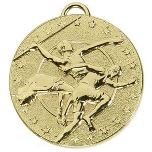 """Target Track and Field 50mm (2"""") Medal Gold"""