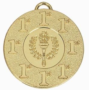 "Target Victory Place Medal 50mm (2"") Gold 1st Place"