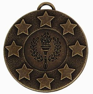"Target Victory Star and Wreath Medal 50mm (2"") Bronze"
