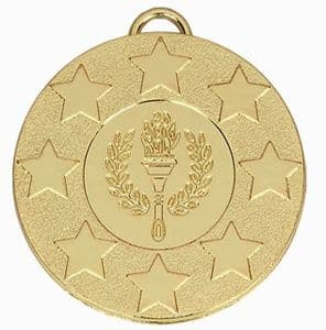 "Target Victory Star and Wreath Medal 50mm (2"") Gold"