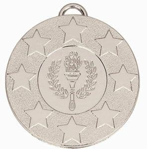 "Target Victory Star and Wreath Medal 50mm (2"") Silver"