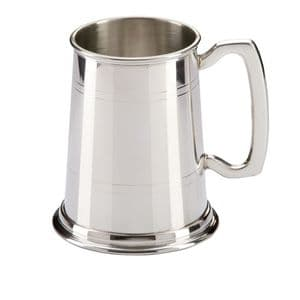 The Commodore English Pewter Tankard 125mm 1pt
