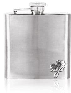 Thistle 6oz Stainless Steel Hip Flask