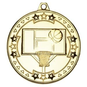 "Tristar Basketball 50mm (2"") Medal Gold"