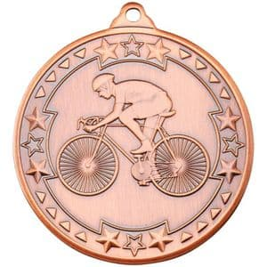 "Tristar Cycling 50mm (2"") Medal Bronze"