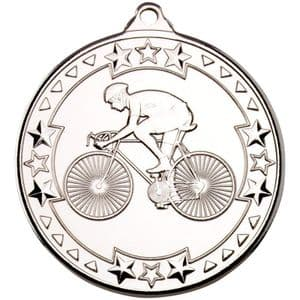 "Tristar Cycling 50mm (2"") Medal Silver"