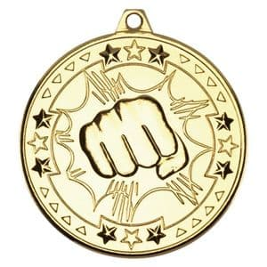 "Tristar Martial Arts 50mm (2"") Medal Gold"