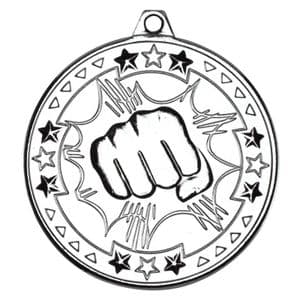 "Tristar Martial Arts 50mm (2"") Medal Silver"