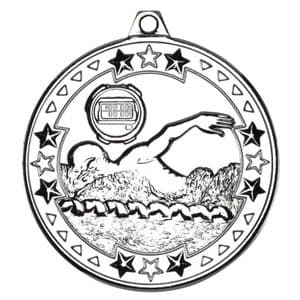 "Tristar Swimming 50mm (2"") Medal Silver"