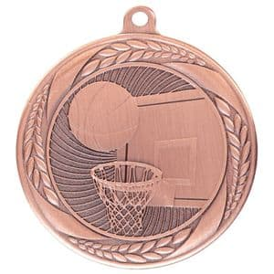 "Typhoon Basketball Medal Bronze 55mm (2.1"")"