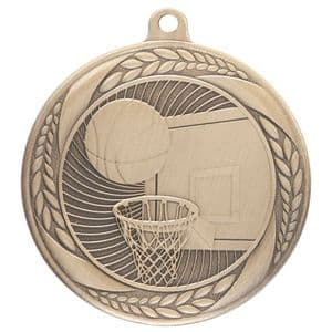 "Typhoon Basketball Medal Gold 55mm (2.1"")"