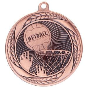 "Typhoon Netball Medal Bronze 55mm (2.1"")"