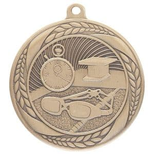 "Typhoon Swimming Medal Gold 55mm (2.1"")"