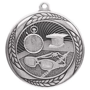 "Typhoon Swimming Medal Silver 55mm (2.1"")"