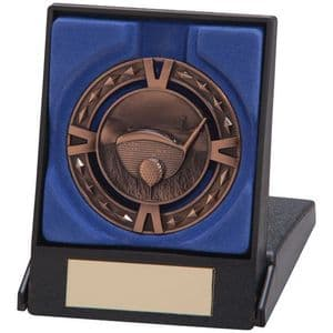 "V-Tech Series Medal - Golf Bronze 60mm (2.35"") in Box"